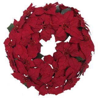 St. Nicholas Square® Indoor Artificial Poinsettia Christmas Wreath