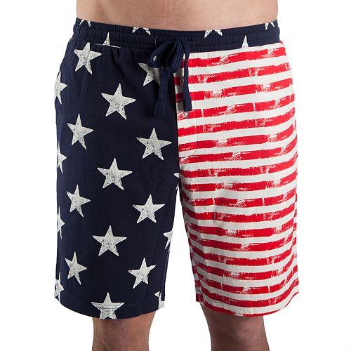 Men's American Flag Sleep Shorts