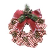St. Nicholas Square® Indoor Light-Up Ribbon Christmas Wreath