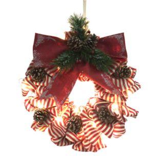 St. Nicholas Square® Indoor Light-Up Ribbon Christmas Wreath