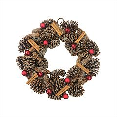 St. Nicholas Square® Indoor Pine Cone Christmas Wreath