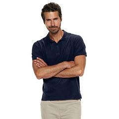 Men's Chaps Double-Pique Stretch Polo