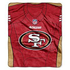 San Francisco 49ers Jersey Raschel Throw by Northwest
