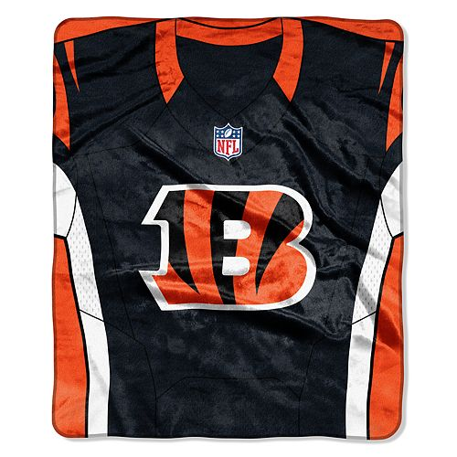 Cincinnati Bengals Jersey Raschel Throw by Northwest