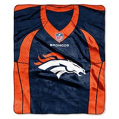 Denver Broncos Jersey Raschel Throw by Northwest