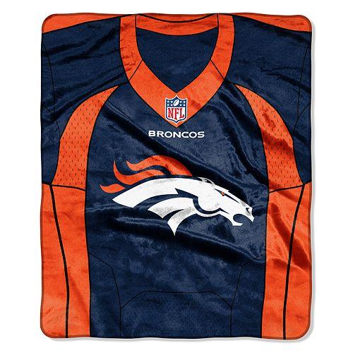 Denver Broncos Jersey Raschel Throw by Northwest