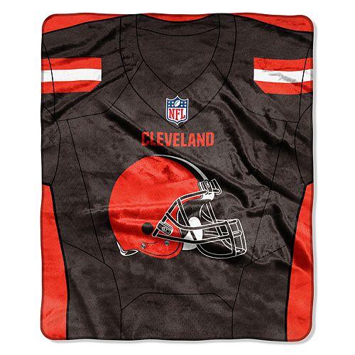 Cleveland Browns Jersey Raschel Throw by Northwest