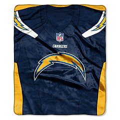 Los Angeles Chargers Jersey Raschel Throw by Northwest