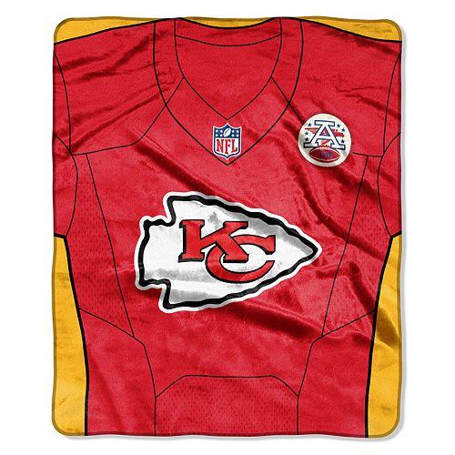 Kansas City Chiefs Jersey Raschel Throw by Northwest