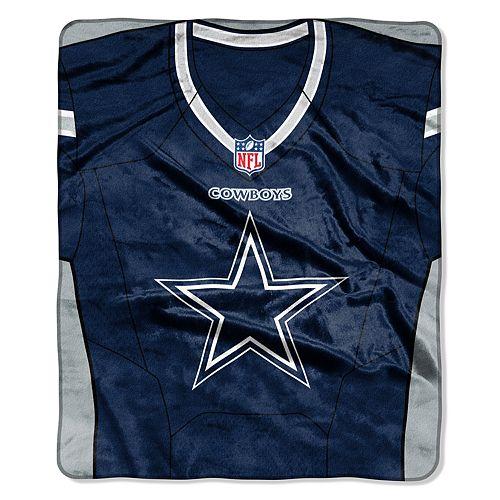 Dallas Cowboys Jersey Raschel Throw by Northwest