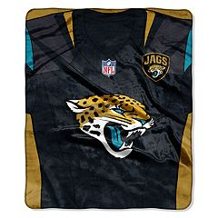 Jacksonville Jaguars Jersey Raschel Throw by Northwest