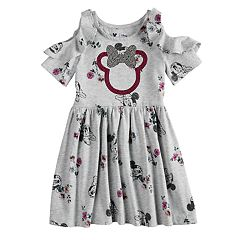 Disney Minnie Mouse Toddler Girls Cold-Shoulder Ruffled Dress by Jumping Beans®