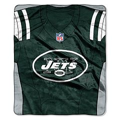 New York Jets Jersey Raschel Throw by Northwest
