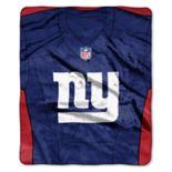 New York Giants Jersey Raschel Throw by Northwest