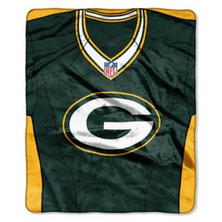 Green Bay Packers Jersey Raschel Throw by Northwest
