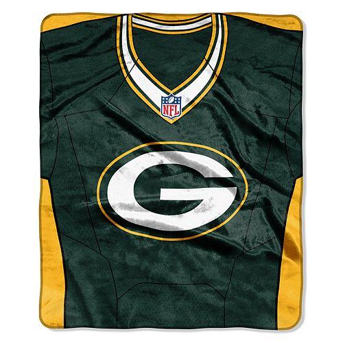 Green Bay Packers Jersey Raschel Throw by Northwest