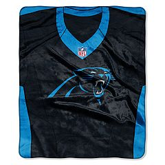 Carolina Panthers Jersey Raschel Throw by Northwest