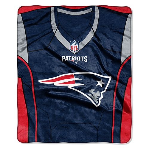 New England Patriots Jersey Raschel Throw by Northwest