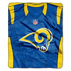 Los Angeles Rams Jersey Raschel Throw by Northwest