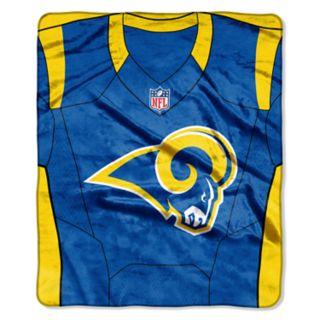 Los Angeles Rams Jersey Raschel Throw by Northwest