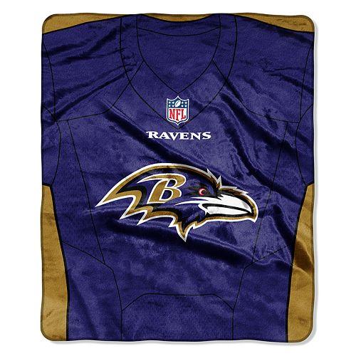 Baltimore Ravens Jersey Raschel Throw by Northwest