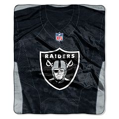 Oakland Raiders Jersey Raschel Throw by Northwest