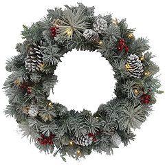 St. Nicholas Square® Indoor Pre-Lit Artificial Christmas Wreath