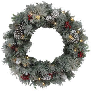St. Nicholas Square® Indoor Pre-Lit Artificial Christmas Wreath