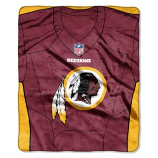 Washington Redskins Jersey Raschel Throw by Northwest