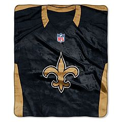 New Orleans Saints Jersey Raschel Throw by Northwest