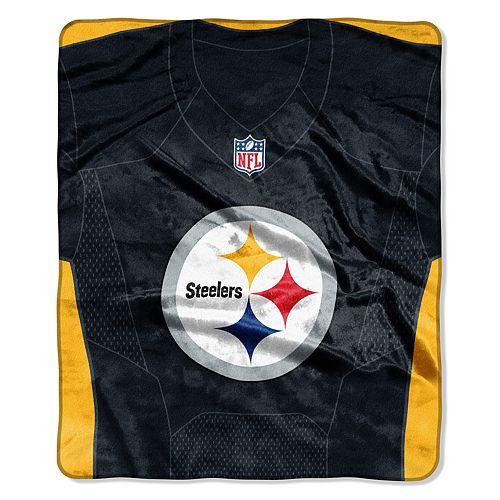 Pittsburgh Steelers Jersey Raschel Throw by Northwest