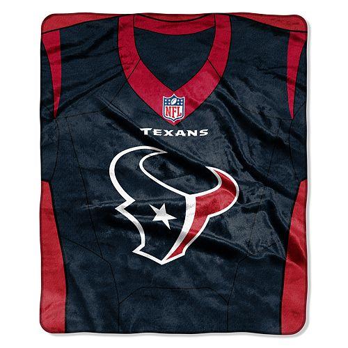 Houston Texans Jersey Raschel Throw by Northwest