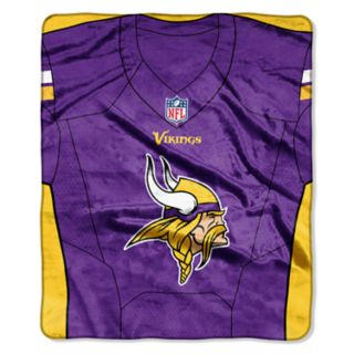 Minnesota Vikings Jersey Raschel Throw by Northwest