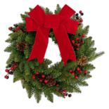 St. Nicholas Square® Indoor Pre-Lit Bow Artificial Christmas Wreath