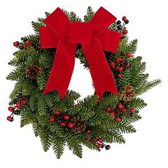 st nicholas square indoor pre lit bow artificial christmas wreath