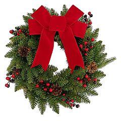 St. Nicholas Square® Indoor Pre-Lit Bow Artificial Christmas Wreath
