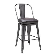 Pulaski Swivel Distressed Bar Stool