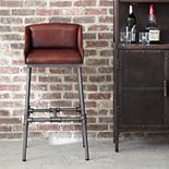 Pulaski Brandon Leather Bar Stool