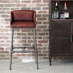 Pulaski Brandon Leather Bar Stool