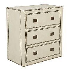 Pulaski Chester Faux-Leather 3-Drawer Dresser