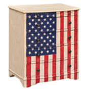 Pulaski American Flag 4-Drawer Dresser