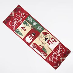 St. Nicholas Square® Patchwork Snowman Table Runner - 36'