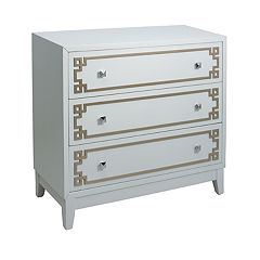 Pulaski Geometric Metallic 3-Drawer Dresser
