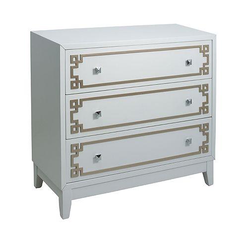 Pulaski Geometric Metallic 3-Drawer Dresser