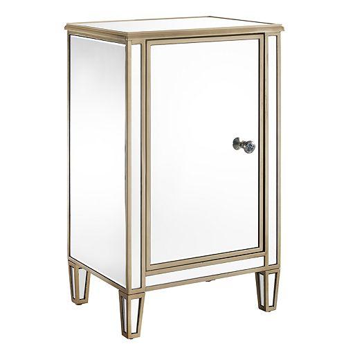 Pulaski Mirrored Wine Cabinet, Mirrored Wine Cabinet