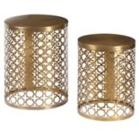 Pulaski Trellis Perforated Accent Table 2-piece Set