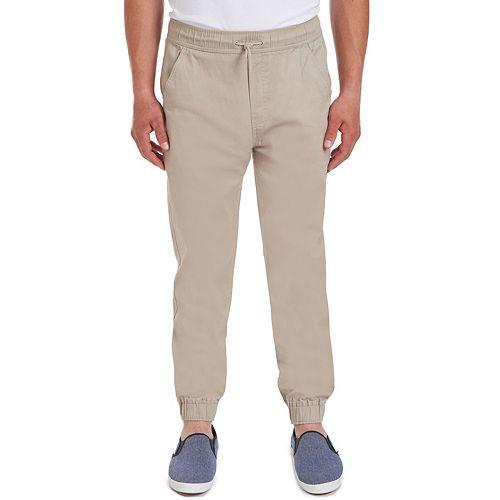 Men's Chaps Ethan Flat-Front Jogger Pants