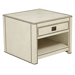 Pulaski Chester Faux-Leather End Table
