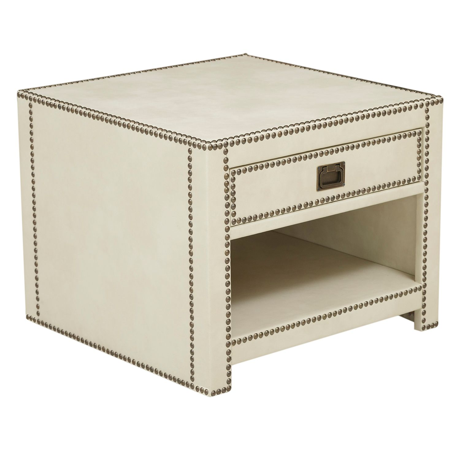 Pulaski Chester Faux Leather End Table