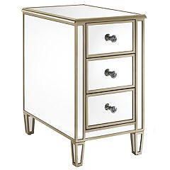 Pulaski Mirrored 3-Drawer End Table